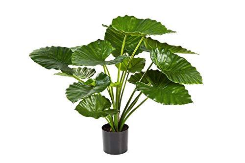 PARC Network - Alocasia Calidora Kunstpflanze, grün, 75cm - Kunst Alokasie - Pfeilblatt Künstlich - Elefantenohr Deko Pflanze - Künstliche Pflanze