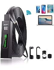 DDENDOCAM Cámara de inspección de boroscopio USB con endoscopio inalámbrico 1200P HD WiFi Snake Camera para Android/iOS iPhone/Windows/Mac/Tablet/PC (5M)