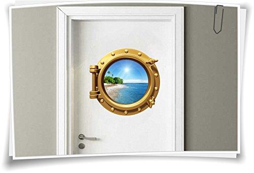 Adhesivo para puerta (50 x 50 cm), diseño de ojo de buey