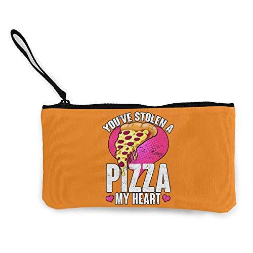 SDFGJ You've Stolen A Pizza My Heart Canvas Coin Coin Purse Cute Wristlet Wallet Money Coin Bag Cellphone Bag with Zipper