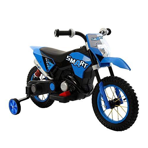 giordanoshop Moto Elettrica per Bambini 6V Minicross Blu