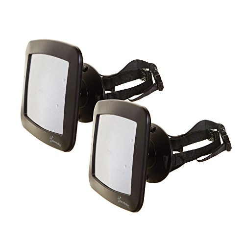 Dreambaby Adjustable Backseat Mirror - Wide Angle for Baby Rear Facing Car Seat – L263 - (2 Pack)