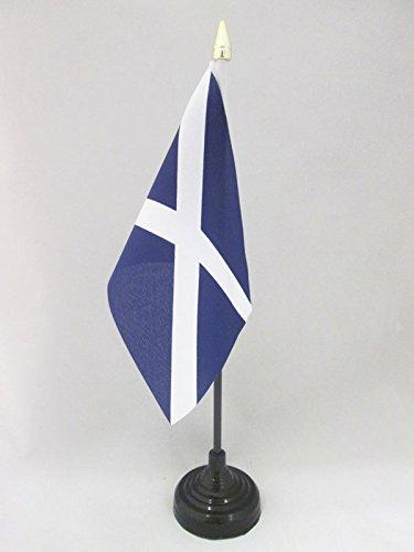 AZ FLAG TISCHFLAGGE SCHOTTLAND 15x10cm goldene splitze - Schottische TISCHFAHNE 10 x 15 cm - flaggen