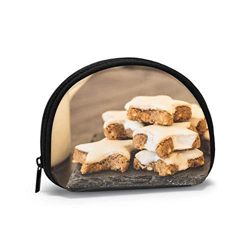 Mini borsa di immagazzinaggio, borsa a conchiglia, piccola tasca tasca portatile occhiali di Natale biscotti portafogli, sacchetto di gioielli, borsa cosmetica