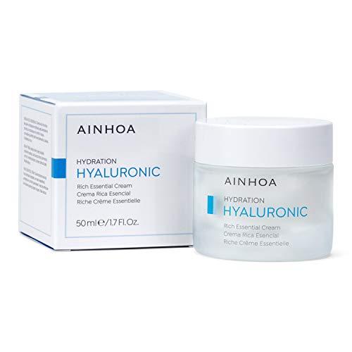AINHOA Cosmetics - HYALURONIC Crema Rica Esencial 50 ml – Tratamiento Facial Hidratante Intensivo con Ácido Hialurónico para Mujer/Hombre - Piel Seca – Día/Noche- Calidad Profesional