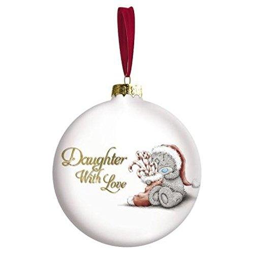 Me To You Fille avec Amour Ours Boule de Noël Décoration d'arbre