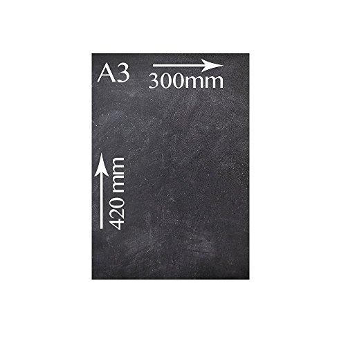 Kreidetafeln UK doppelseitig, Holz, schwarz, 41.4x 29,6x 1,6cm