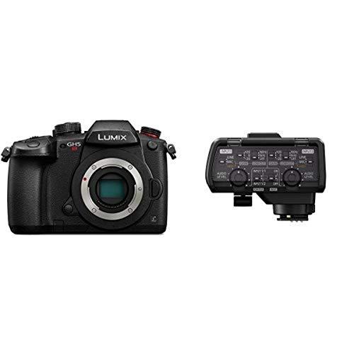 PANASONIC LUMIX GH5s Body C4K Mirrorless Camera with Professional Microphone Adaptor, 2 XLR Terminals, black (DMW-XLR1)