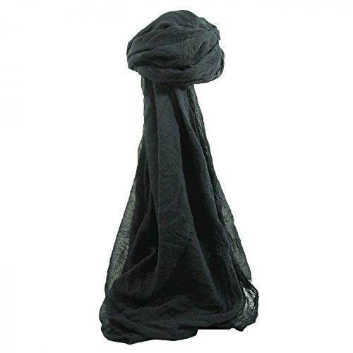 Shopping-et-Mode - Etole couleur noir unie mélange viscose et coton - Noir, Coton