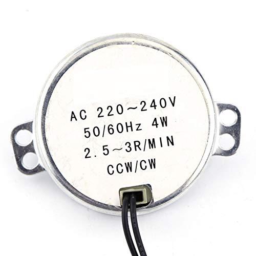 Motor eléctrico de bajo consumo eléctrico con imán permanente de 4 W y función de protección contra sobretensiones para ventilador eléctrico, calefacción (2,5-3 rpm)