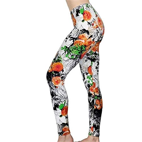 XBECO Imprimir Sexy Flor Leggings Leggins Más El Tamaño De Legins Tela Escocesa Delgada Nueve Pantalones De Las Mujeres Ropa De Moda De Los Pantalones De Las Polainas Buena Elasticidad