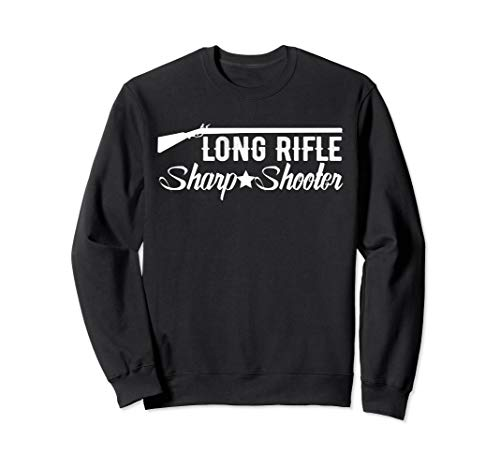 Long Rifle Sharp Shooter, Vintage Gun Collectors Gift Sweatshirt