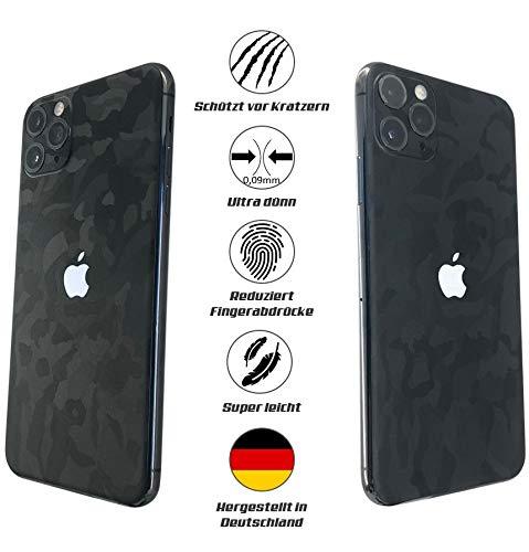 TKCase iPhone 11 Pro Skin beschermfolie achterkant [2 stuks] carbon, shadow. 3 m.