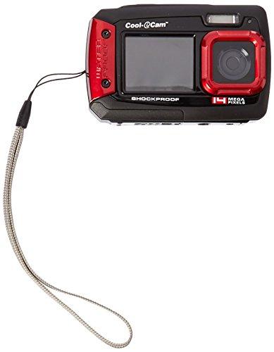 iON Cool-iCam Tough Waterproof Shockproof Digital Selfie Camera with Dual LCD Display - (Red)