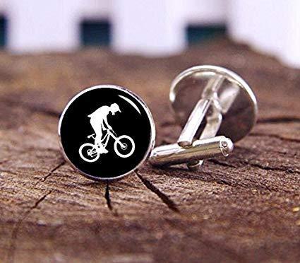MTX Biker-Manschettenknöpfe, Fahrrad Stunt-Manschettenknöpfe, Fahrrad Motocross, BMX Manschettenknöpfe, Hochzeit Manschettenknöpfe, Bräutigam Manschettenknöpfe