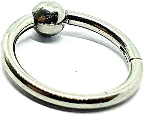 Eclectische winkel Uk piercing oorbel BCR Clicker piercing hoepel ring 12mm 14g (1.6mm) chirurgisch staal