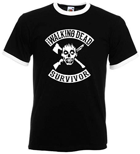 World of Shirt Zombie Survivor Retro Herren Horror Shirt