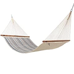 A classic pattern that will instantly transport you to your own private escape, the Cabana Classic Large Quilted Hammock is a must-have for your backyard. Handcrafted in the Carolinas from Sunbrella fabric that's resistant to mold, mildew, rot, stain...