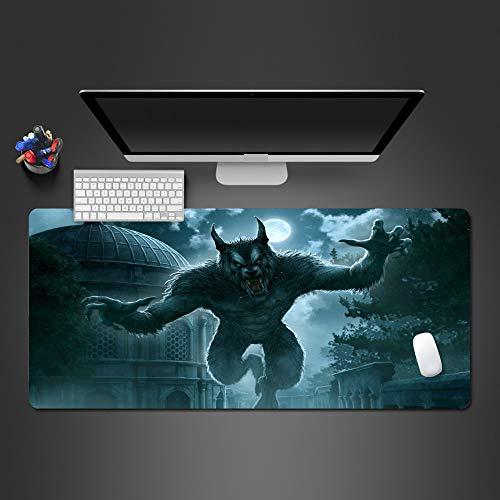 Oversized muismat natuurlijke rubber weerwolf patroon spel muismat anti-slip natuurlijke rubber met lock muismat, 70 * 30cm