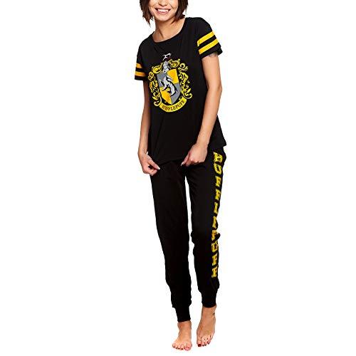 HARRY POTTER Pijama Escudo de Armas para Mujer 2pcs Elven Forest Cotton Black