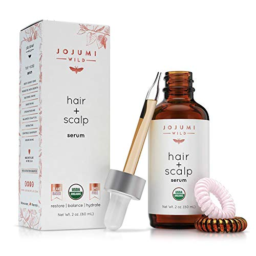 Jojumi Wild Organic Hair, Face, Scalp, Skin, Cuticle and Nail Care Treatment Serum with Argan, Castor, and Jojoba Oil (2 oz.)