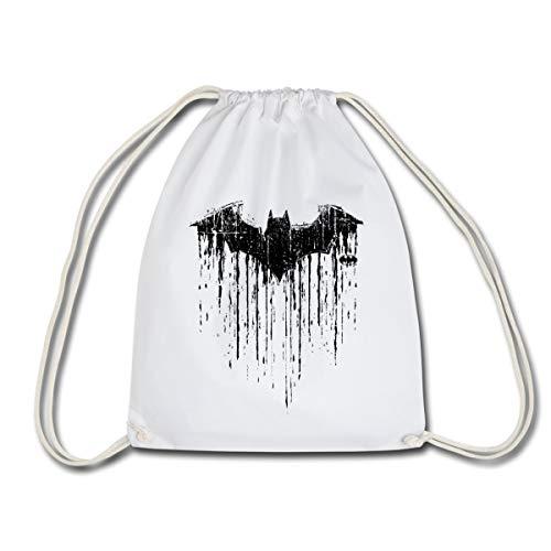 DC Comics Batman Chauve-Souris Look Usé Sac à dos cordon, blanc