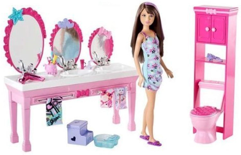 Barbie–T7535–Mobilier de Puppe–Mbel Schwestern–Badezimmer