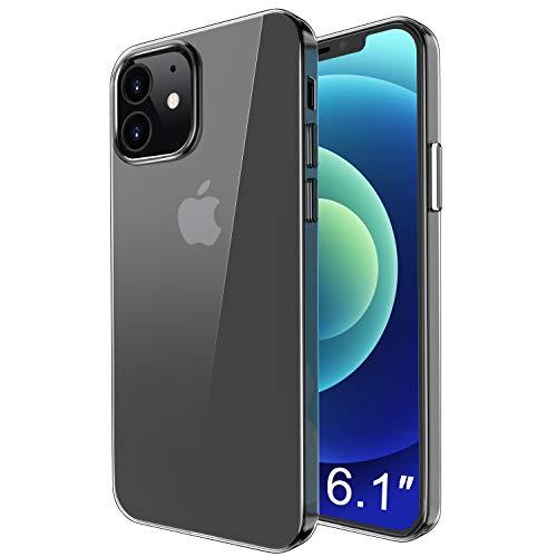 omitium Cover Compatibile con iPhone 12 PRO iPhone 12 6.1 Pollice. TPU Trasparente Cover iPhone 12 Sottile Custodia Anti Graffio Silicone Bumper Case iPhone 12 PRO Crystal Custodia