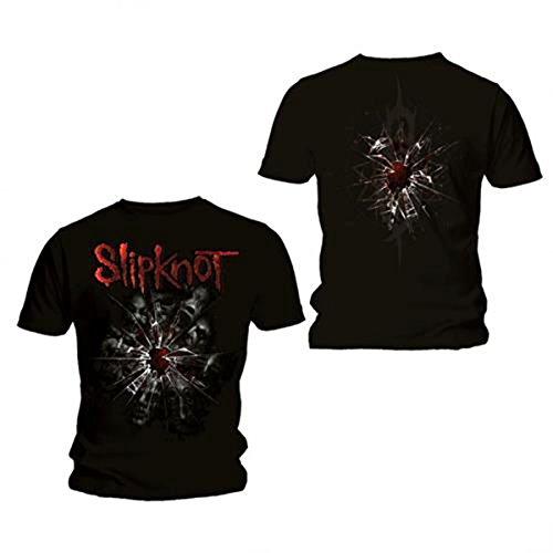 Bravado - Camiseta con Cuello Redondo de Manga Corta para Hombre, Talla 41, Color Negro
