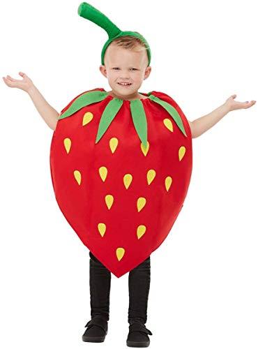 Funidelia | Disfraz de Fresa para niño y niña Talla 3-6 años ▶ Fruta, Comida - Rojo