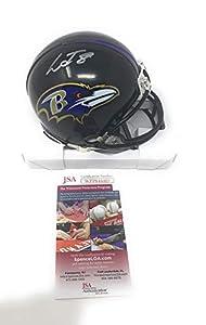 Lamar Jackson Baltimore Ravens Signed Autograph Mini Helmet JSA Witnessed Certified