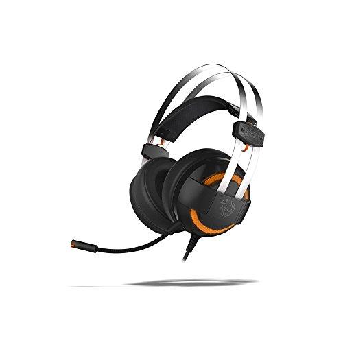 Krom Cascos Gaming KODE -NXKROMKDE - Auriculares con microfono, Sonido Envolvente 7.1, Altavoces 50mm, Diadema Ajustable, Micro Flexible, USB, Compatible PS4, PS5 y PC, Negro