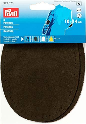 Prym 14 x 10 cm Lot DE 2 Patchs en Imitation Daim pour Repasser/Sewing-on, Olive