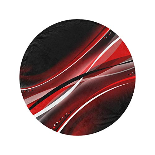 Round Black and Red Abstract Mobile Wallpaper 437 Amaz Fleece Throw Blankets Soft and Cozy Cozy Blanket Circle Soft Blanket Throw Moving Blankets For Home Bed Couch Travel(47in/60in)