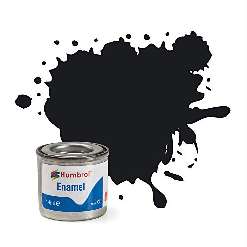 Humbrol 14 ml No. 1 Tinlet Enamel Paint 21 (Nero Lucido)