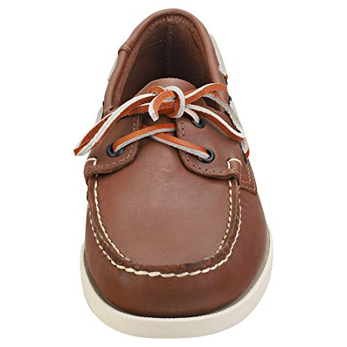 Sebago 720161 Men's Docksides Leather Casual Shoes - Grey - 9.0 - M