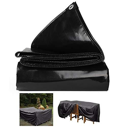 WXQIANG Lona impermeable anti-UV resistente al calor al aire libre picnic playa camping pad juego pad 20 tamaños protección solar, aislamiento térmico, (color: negro, tamaño: 3,8 x 5,8 m)