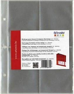 Artemio 18001011 6 Pochettes recharges pour farde de Rangement pour Mini tampons Transparents 18001002, Plastique, Multico...