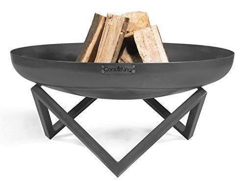 Feuerschale Santiago Ø 80 cm Feuerstelle für Garten aus Stahl Feuerkorb als Wärmequelle oder Grill CookKing