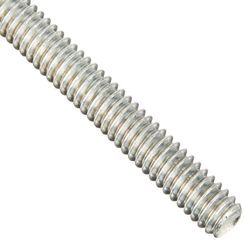 Steel Fully Threaded Rod, Zinc Plated, 1/4