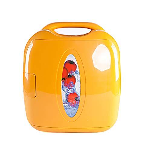 Car refrigerator-TOYM 8L Casa dell automobile Mini Frigo Auto Frigorifero Congelatore Portatile, Giallo, 10.55 * 11.96 * 12.36 Pollici