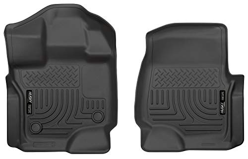 Husky Liners 18361 Black Weatherbeater Front Floor Liners Fits 2015-2019 Ford F-150 SuperCrew Cab, 2015-2019 Ford F-150 SuperCab