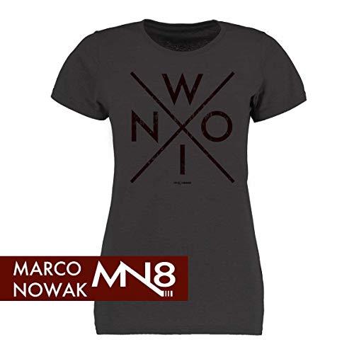 Scallywag® Eishockey Frauen T-Shirt Nowi I Größen S - XXL I A BRAYCE® Collaboration (offizielle Marco Nowak #8 Collection) (S)
