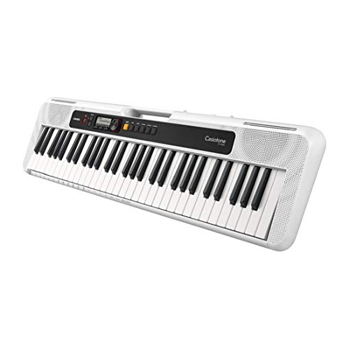 Casio CT-S200WE Keyboard in weiss mit 61 Standardtasten und Begleitautomatik, weiß