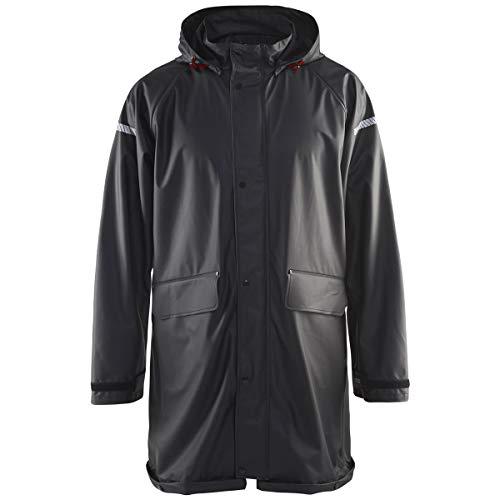 Regenjas Level 1 Armygroen, Small, zwart