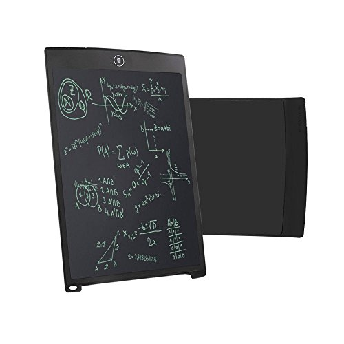 LCD Writing Board, Durable Handwriting Tablet Rewritten Pad Drawing Board Gift in School, House, Office, Car for Kids, Designer, Teacher, Student Carry Easily Built-in Button Battery - Black