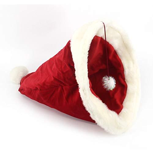 Hothap Chrismas hoed, gezellig, huisdierbed, warme holte, voor puppen, accessoires voor katten