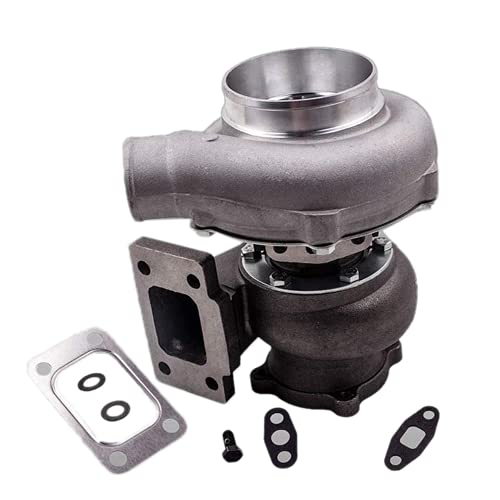 SINOCMP Universal Turbo GT30 GT3037 Turbo T3 Flange 4-Bolt 500+HPS, 0.82 A/R Turbine Water&Oil, GT3076 Turbocharger for all 6/8 cyl 3.0L-5.0L Engine Turbocharger, 3 Month Warranty