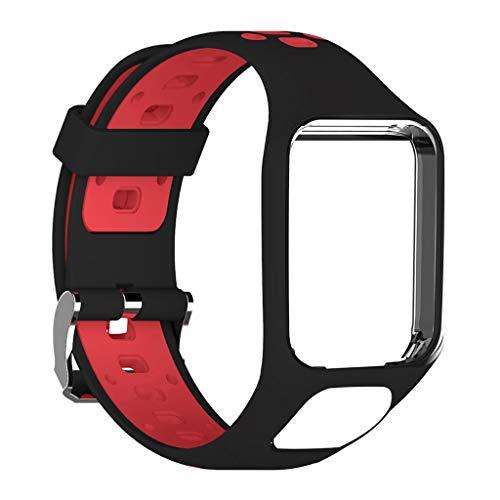 YOKING - Correa para reloj inteligente bicolor TomTom2 de 3ª generación, pulsera para hombre, pulsera para mujer, accesorios para reloj inteligente