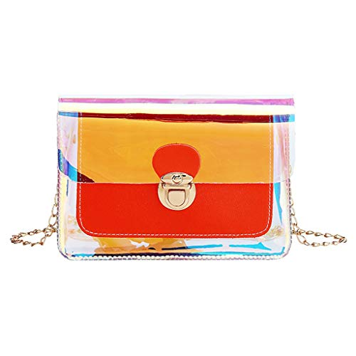 Best Prices! SADUORHAPPY Fashion Lady Transparent Phone Bag Beach Handbag Shoulder Crossbody Bag wit...